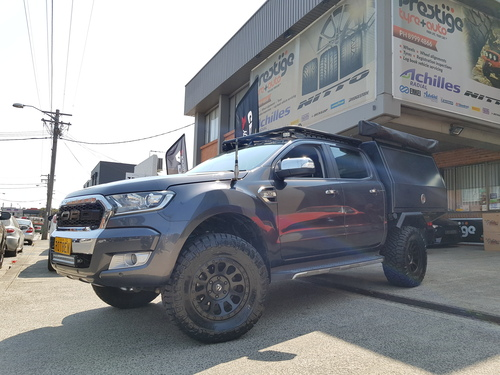 Ford Ranger fitted up with 17'' Black Fuel Vector Wheels & 33x12.5r17 Nitto Ridge Grappler Tyres  image