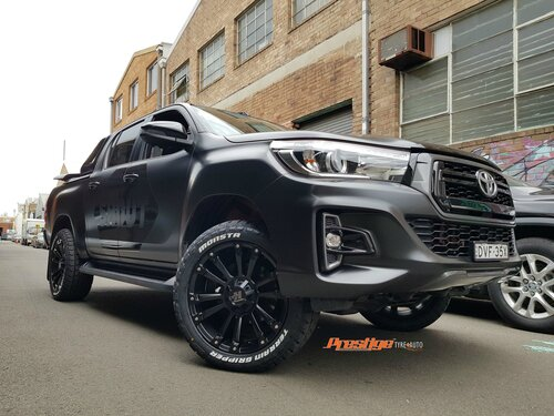 "Toyota Hilux fitted up with 20"" Hussla Ambush Wheels & Monsta AT tyres"