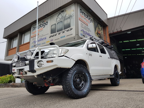Toyota Hilux fitted up with 16'' King Terra Steel Wheels & 265/75r16 BF Goodrich K02 Tyres